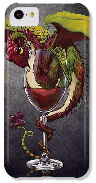 Red Wine Dragon IPhone 5c Case by Stanley Morrison