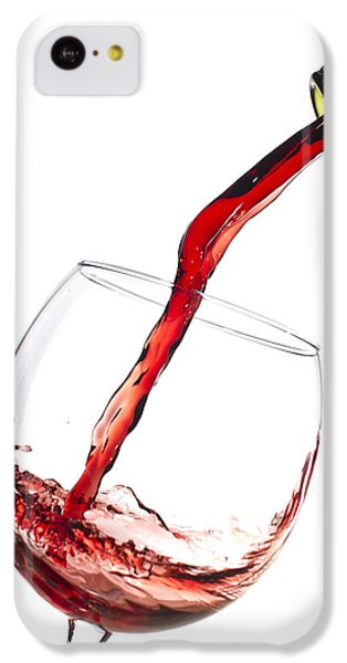 Red Wine Pouring Into Wineglass Splash IPhone 5c Case by Dustin K Ryan