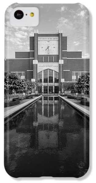 Reflecting Pond Outside Of Oklahoma Memorial Stadium IPhone 5c Case by Nathan Hillis