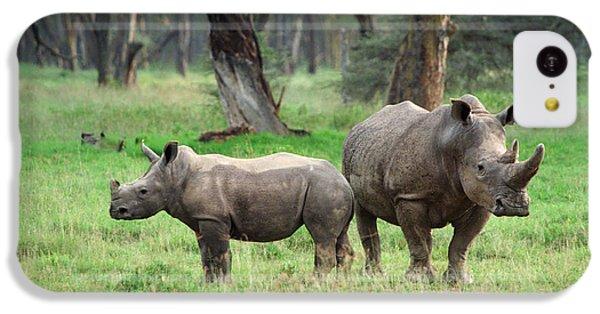 Rhino Family IPhone 5c Case by Sebastian Musial