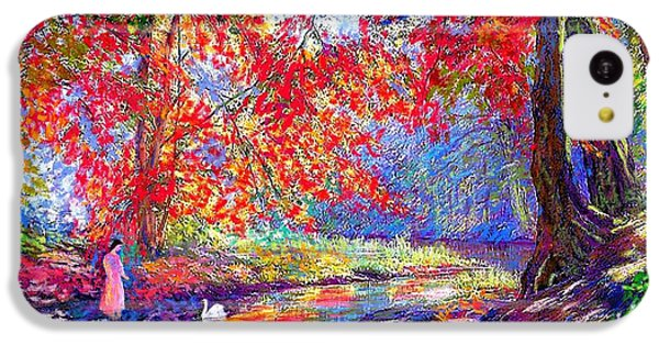 River Of Life, Colors Of Fall IPhone 5c Case by Jane Small