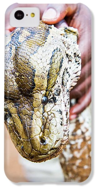 Rock Python Recovered From Poachers IPhone 5c Case by Peter Chadwick