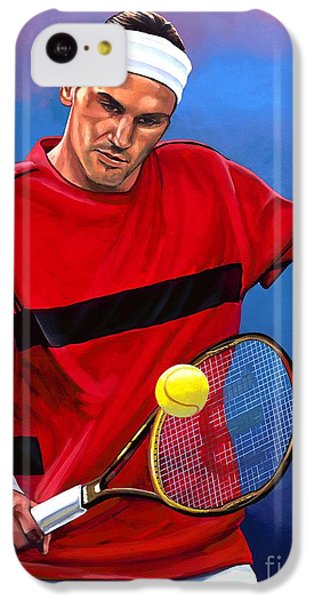 Roger Federer The Swiss Maestro IPhone 5c Case by Paul Meijering