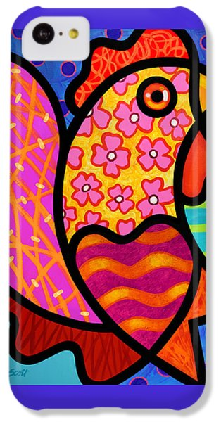 Rooster Dance IPhone 5c Case by Steven Scott