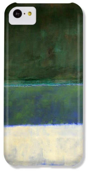 Rothko's No. 14 -- White And Greens In Blue IPhone 5c Case by Cora Wandel