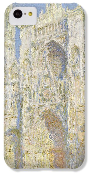 Rouen Cathedral West Facade IPhone 5c Case by Claude Monet