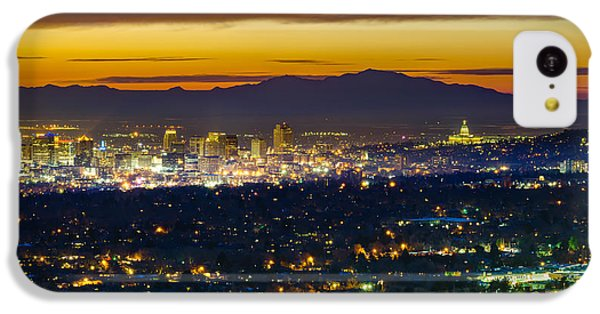 Salt Lake City At Dusk IPhone 5c Case by James Udall