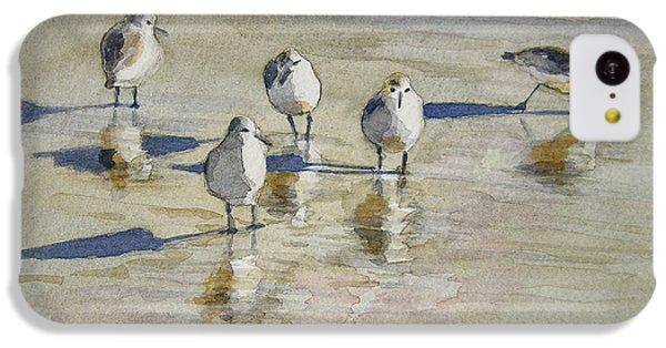 Sandpipers 2 Watercolor 5-13-12 Julianne Felton IPhone 5c Case by Julianne Felton