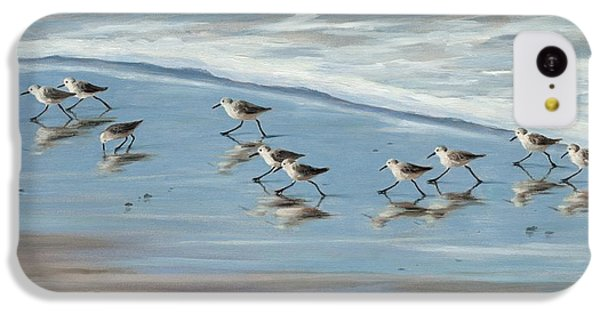 Sandpipers IPhone 5c Case by Tina Obrien