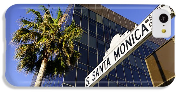 Santa Monica Blvd Sign In Beverly Hills California IPhone 5c Case by Paul Velgos