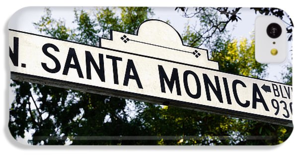 Santa Monica Blvd Street Sign In Beverly Hills IPhone 5c Case by Paul Velgos
