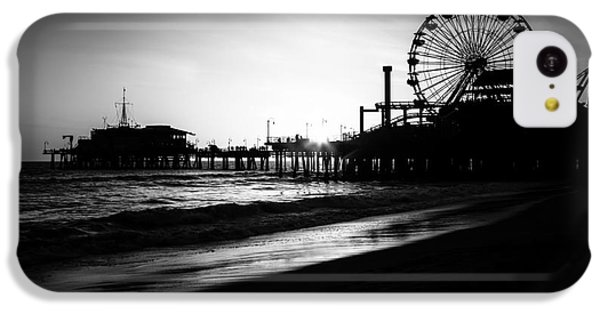 Santa Monica Pier In Black And White IPhone 5c Case by Paul Velgos