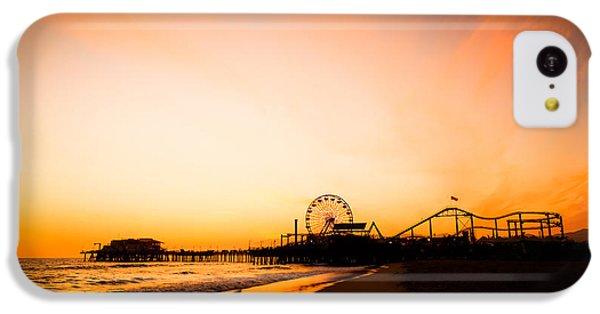 Santa Monica Pier Sunset Southern California IPhone 5c Case by Paul Velgos