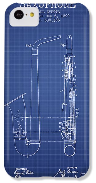 Saxophone Patent From 1899 - Blueprint IPhone 5c Case by Aged Pixel