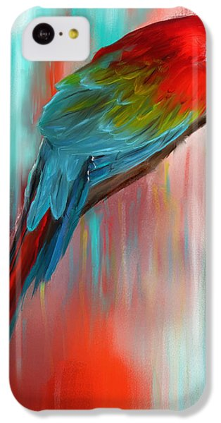 Scarlet- Red And Turquoise Art IPhone 5c Case by Lourry Legarde