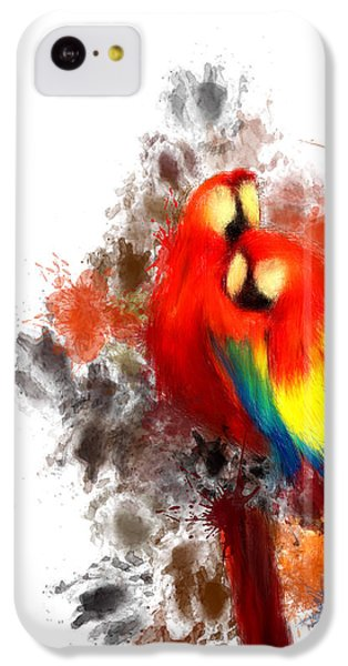 Scarlet Macaw IPhone 5c Case by Lourry Legarde
