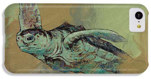 Sea Turtle IPhone 5c Case by Michael Creese