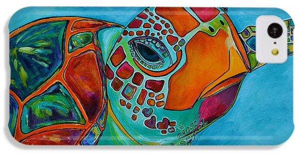 Seaglass Sea Turtle IPhone 5c Case by Patti Schermerhorn