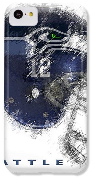 Seahawks 12 IPhone 5c Case by Daniel Hagerman