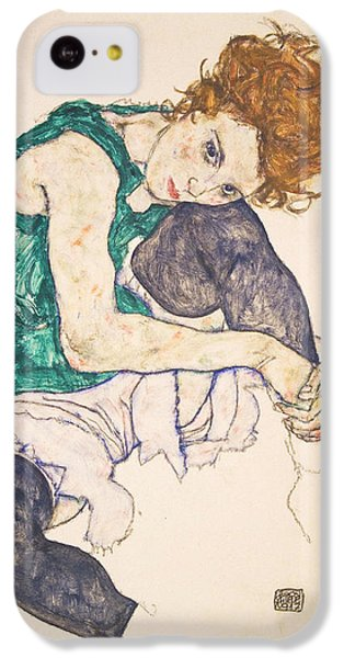 Seated Woman With Legs Drawn Up. Adele Herms IPhone 5c Case by Egon Schiele