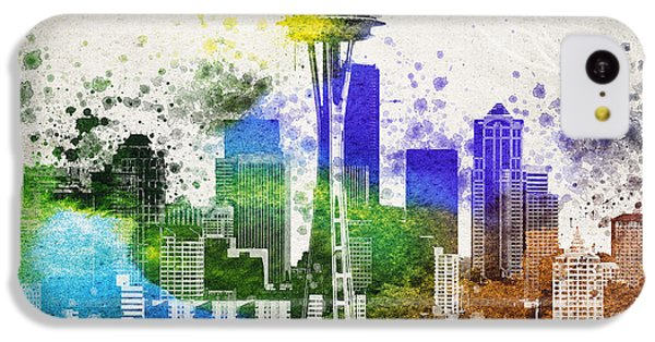 Seattle City Skyline IPhone 5c Case by Aged Pixel