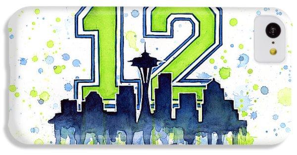 Seattle Seahawks 12th Man Art IPhone 5c Case by Olga Shvartsur