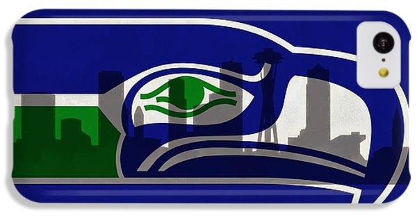 Seattle Seahawks On Seattle Skyline IPhone 5c Case by Dan Sproul
