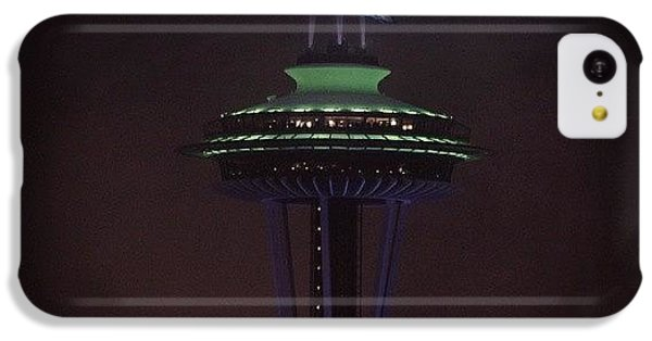 #seattle #spaceneedle #seahawks IPhone 5c Case by Nathan  Brend