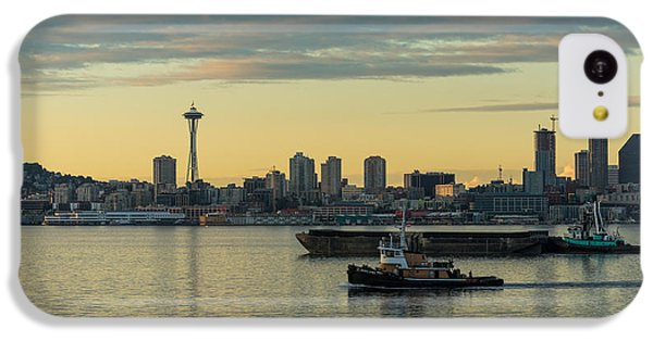 Seattles Working Harbor IPhone 5c Case by Mike Reid