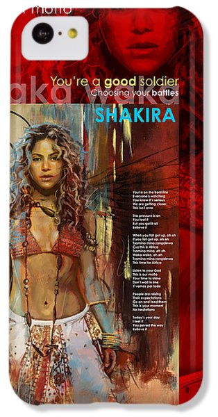 Shakira Art Poster IPhone 5c Case by Corporate Art Task Force