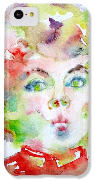 Shirley Temple - Watercolor Portrait.2 IPhone 5c Case by Fabrizio Cassetta