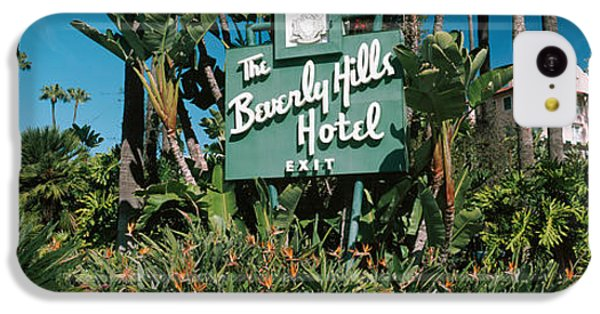 Signboard Of A Hotel, Beverly Hills IPhone 5c Case by Panoramic Images