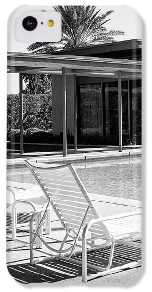 Sinatra Pool Bw Palm Springs IPhone 5c Case by William Dey