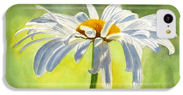 Single White Daisy Blossom IPhone 5c Case by Sharon Freeman