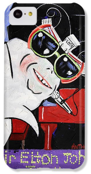 Sir Elton John Tooth  IPhone 5c Case by Anthony Falbo