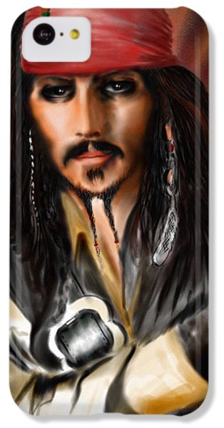 Sketching A Pirate... IPhone 5c Case by Alessandro Della Pietra