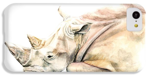 Small Colour Rhino IPhone 5c Case by Elizabeth Lock