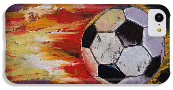 Soccer IPhone 5c Case by Michael Creese