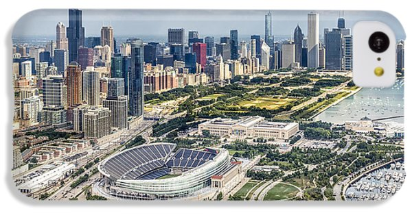 Soldier Field And Chicago Skyline IPhone 5c Case by Adam Romanowicz