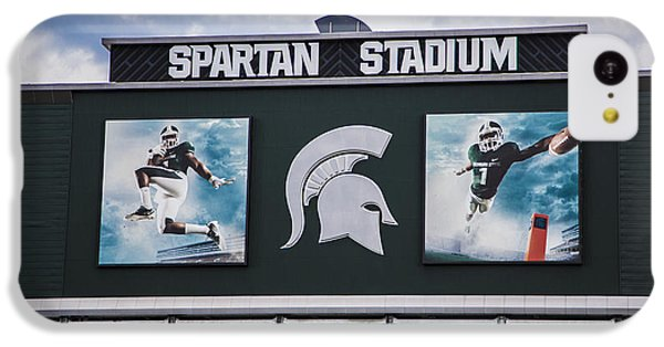 Spartan Stadium Scoreboard  IPhone 5c Case by John McGraw