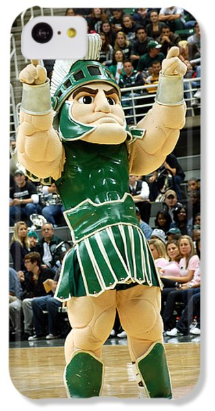 Sparty At Basketball Game  IPhone 5c Case by John McGraw