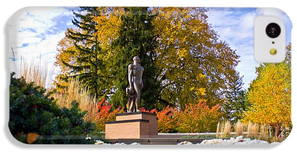 Sparty In Autumn  IPhone 5c Case by John McGraw