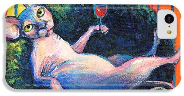 Sphynx Cat Relaxing IPhone 5c Case by Svetlana Novikova