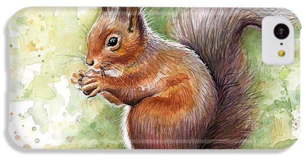Squirrel Watercolor Art IPhone 5c Case by Olga Shvartsur