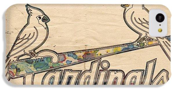 St Louis Cardinals Poster Art IPhone 5c Case by Florian Rodarte