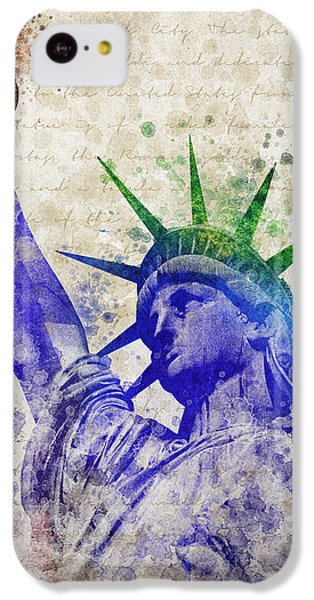 Statue Of Liberty IPhone 5c Case by Aged Pixel