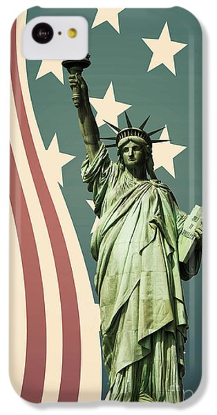 Statue Of Liberty IPhone 5c Case by Juli Scalzi