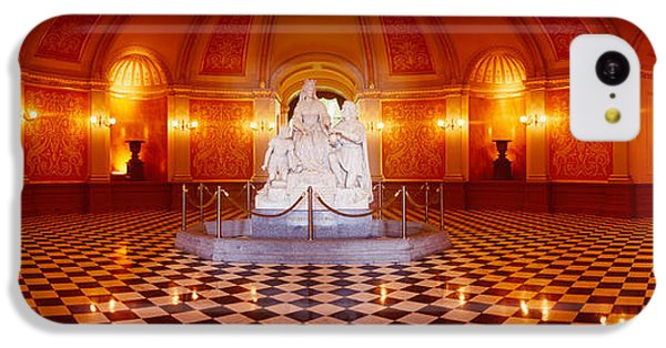Statue Surrounded By A Railing IPhone 5c Case by Panoramic Images