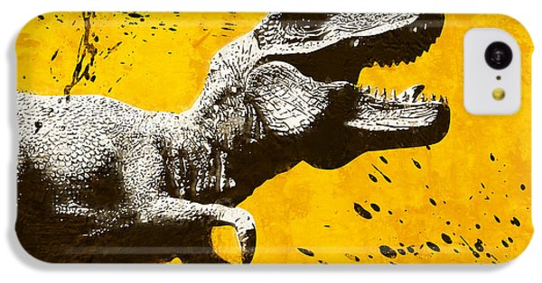 Stencil Trex IPhone 5c Case by Pixel Chimp