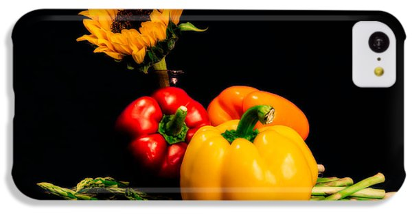 Still Life Peppers Asparagus Sunflower IPhone 5c Case by Jon Woodhams